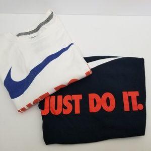 Nike men tshirt BUNDLE Just Do It white Black Larg